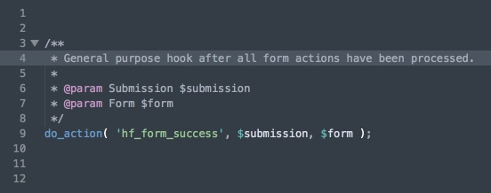 HTML Forms comes with many action and filter hooks