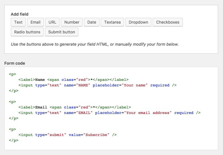 Field helper in HTML Forms
